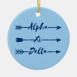 Alpha Xi Delta Arrow Christmas Ornament