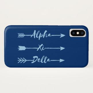 Alpha Xi Delta Arrow iPhone X Case