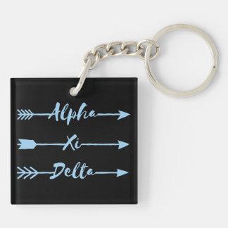 Alpha Xi Delta Arrow Key Ring
