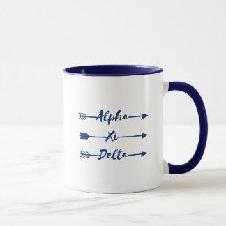 Alpha Xi Delta Arrow Mug
