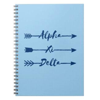 Alpha Xi Delta Arrow Notebook