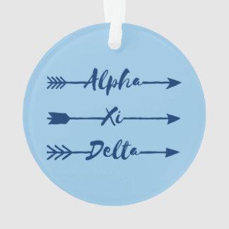 Alpha Xi Delta Arrow Ornament