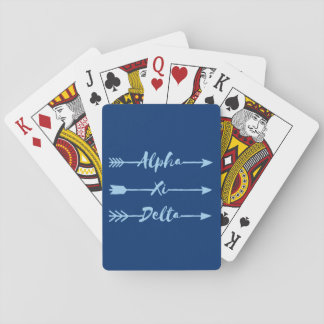 Alpha Xi Delta Arrow Playing Cards