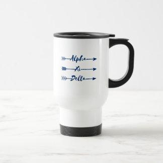 Alpha Xi Delta Arrow Travel Mug