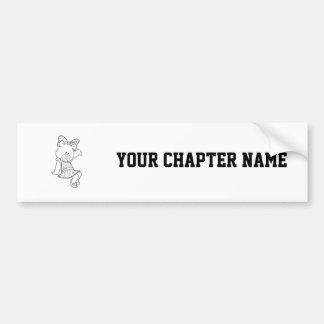 Alpha Xi Delta Bear Bumper Sticker