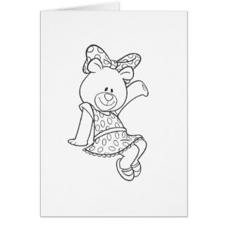 Alpha Xi Delta Bear Card