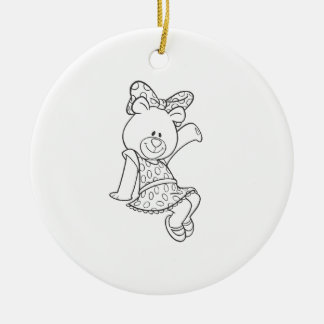 Alpha Xi Delta Bear Christmas Ornament