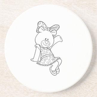 Alpha Xi Delta Bear Coaster