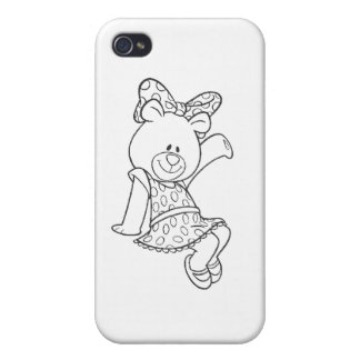 Alpha Xi Delta Bear Cover For iPhone 4