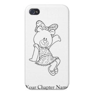 Alpha Xi Delta Bear iPhone 4/4S Cover