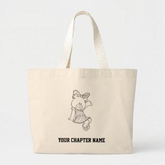 Alpha Xi Delta Bear Large Tote Bag