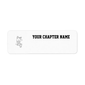 Alpha Xi Delta Bear Return Address Label