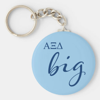 Alpha Xi Delta Big Script Key Ring