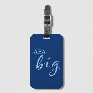 Alpha Xi Delta Big Script Luggage Tag
