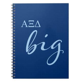 Alpha Xi Delta Big Script Notebook