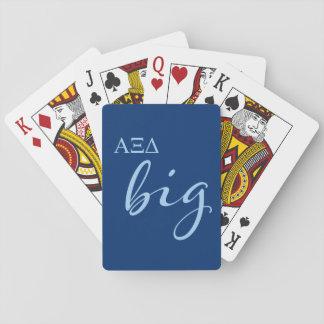 Alpha Xi Delta Big Script Playing Cards