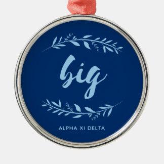 Alpha Xi Delta Big Wreath Christmas Ornament