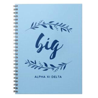 Alpha Xi Delta Big Wreath Notebook