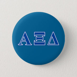 Alpha Xi Delta Blue Letters 6 Cm Round Badge