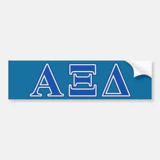 Alpha Xi Delta Blue Letters Bumper Sticker