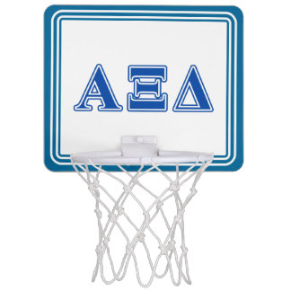 Alpha Xi Delta Blue Letters Mini Basketball Hoop