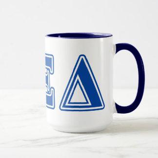 Alpha Xi Delta Blue Letters Mug