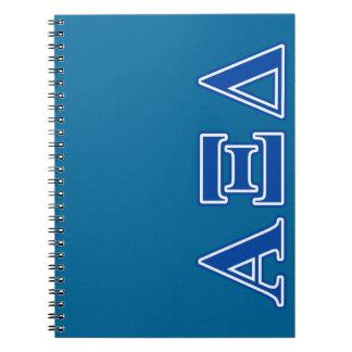 Alpha Xi Delta Blue Letters Notebook