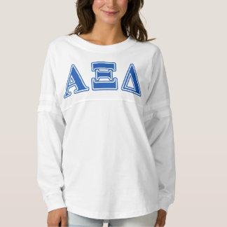Alpha Xi Delta Blue Letters Spirit Jersey