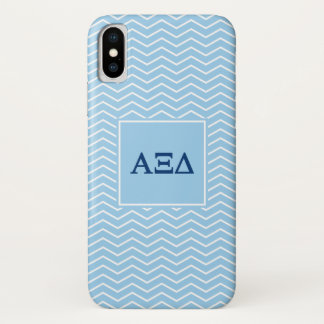 Alpha Xi Delta | Chevron Pattern iPhone X Case