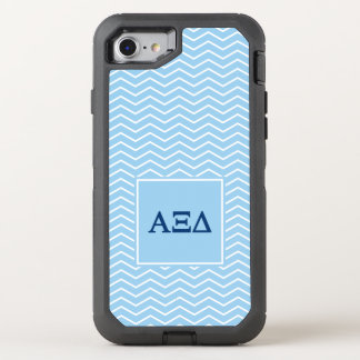Alpha Xi Delta | Chevron Pattern OtterBox Defender iPhone 8/7 Case