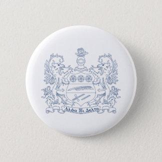 Alpha Xi Delta Crest Blue 6 Cm Round Badge