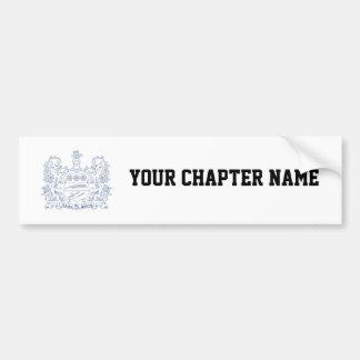 Alpha Xi Delta Crest Blue Bumper Sticker