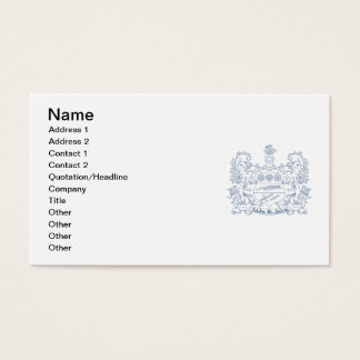 Alpha Xi Delta Crest Blue Business Card
