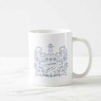Alpha Xi Delta Crest Blue Coffee Mug
