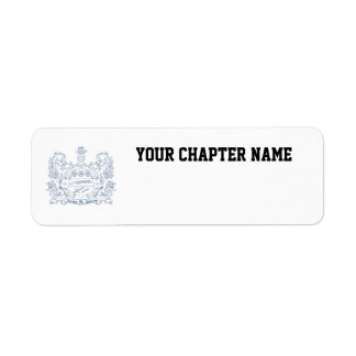 Alpha Xi Delta Crest Blue Return Address Label