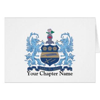 Alpha Xi Delta Crest Color Card
