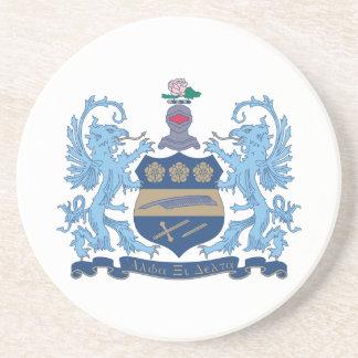 Alpha Xi Delta Crest Color Coaster