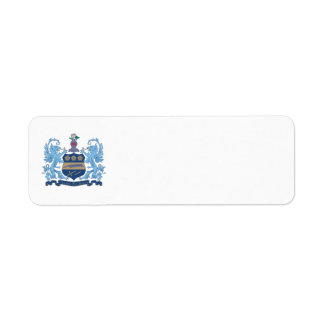 Alpha Xi Delta Crest Color Return Address Label
