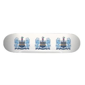 Alpha Xi Delta Crest Color Skateboard