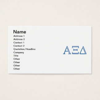Alpha Xi Delta Letters Business Card