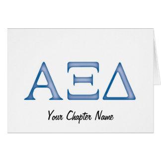 Alpha Xi Delta Letters Card