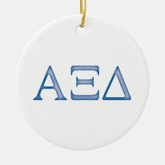 Alpha Xi Delta Letters Christmas Ornament