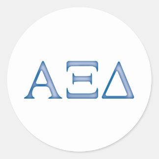 Alpha Xi Delta Letters Classic Round Sticker