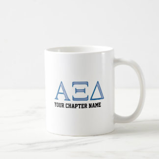 Alpha Xi Delta Letters Coffee Mug
