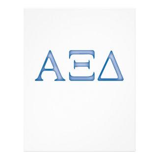 Alpha Xi Delta Letters Flyer