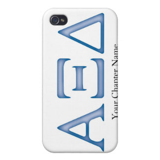Alpha Xi Delta Letters iPhone 4/4S Covers