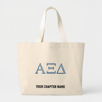 Alpha Xi Delta Letters Large Tote Bag