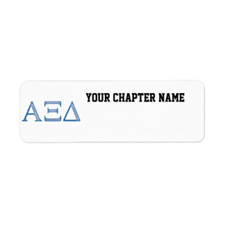 Alpha Xi Delta Letters Return Address Label