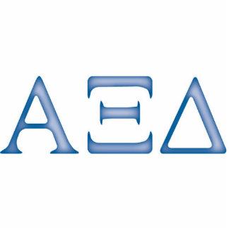 Alpha Xi Delta Letters Standing Photo Sculpture