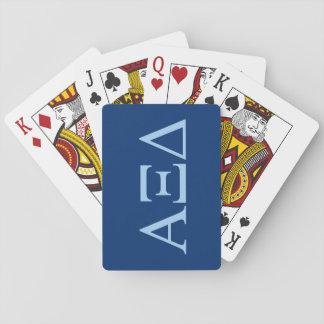 Alpha Xi Delta Lil Big Logo Playing Cards